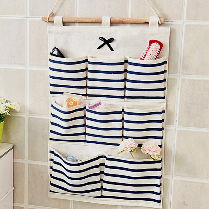 Sundry Cotton Wall Hanging Organizer Bag Multi Layer