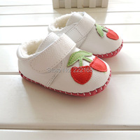 2014 Winter Velvet Lining Genuine Leather Baby Girls White Snow Boots Infant Kids Toddler Shoes First