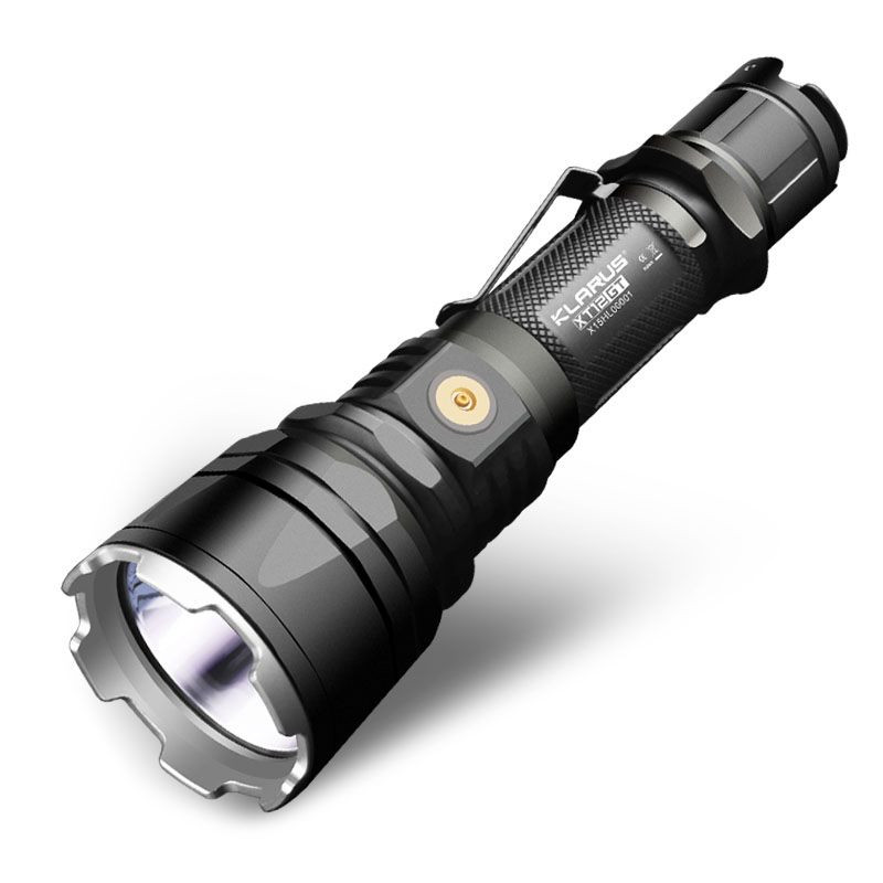 New KLARUS XT12GT 1600 Lumens LED Flashlight CREE LED XHP35 HI D4 Waterproof Tactical Flashlight with18650 Battery new klarus xt11gt cree xhp35 hi d4 led 2000 lm 4 mode tactical led flashlight free usb port and 18650 battey for self defence