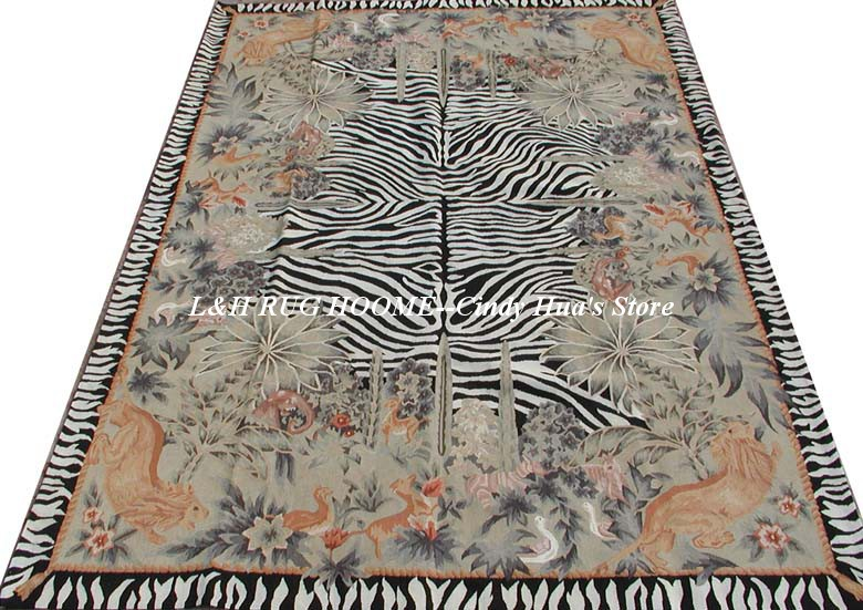 Free shipping  9'x12' Stunning French style aubusson rugs for home - Home Textile