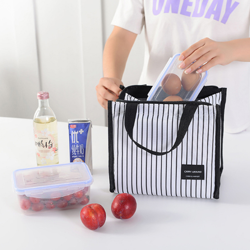Portable Lunch Bag Travel Insulation Food Tote for Picnic Work and School Lunch Insulated Storage Bag