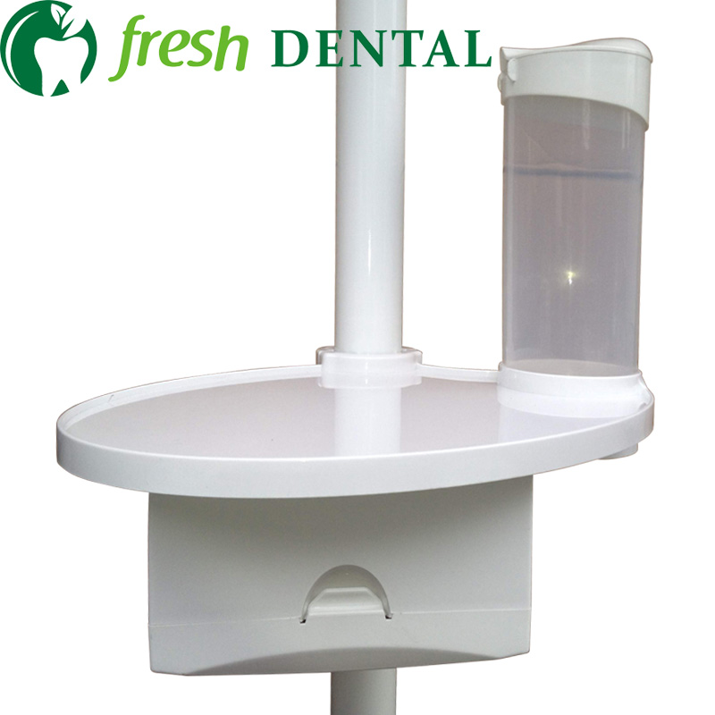 ФОТО Dental three in one dental cup stents+ lamp-posts tray + paper tissue box dental chair unit plastic accessories SL-1313