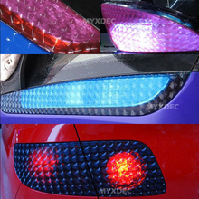 12 Colors Styling Auto 3D Cat's Eye Car Sticker, Smoke Fog Headlight Taillight Tint Vinyl Film