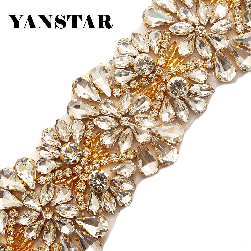 Yanstar Handmade 5.3CM 1Yard Applique Bridal Belt Accessory Trim For Wedding  Dress Sash YS820-in Rhinestones from Home   Garden on Aliexpress.com  9042b7edf9a0