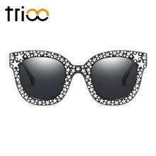 TRIOO Diamant Étoiles lunettes de Soleil Blink Carré Femme Shades Miroir  UV400 Protection Lunettes de Soleil pour femmes de Haut. 533da5e42082