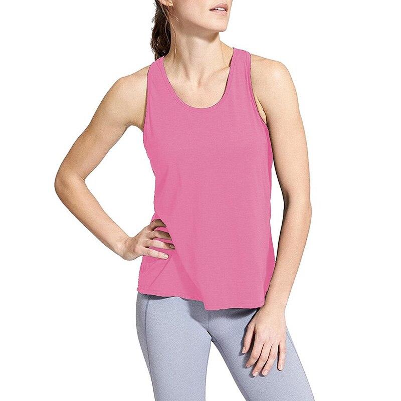 Women Yoga Shirts Open Back Yoga Tank Top Sleeveless Off