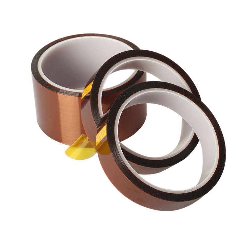 Thermal Insulation Tape Adhesive Tape BGA High Temperature Heat Resistant Polyimide Gold For Electronic Industry