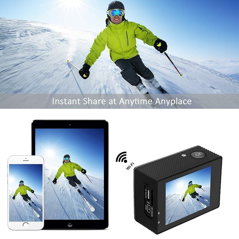 Caméra d'action à distance Tekcam F60R 4 k WIFI 1080 p HD 16MP GO PRO Style casque caméra 30 mètres étanche sport DV caméra - 5
