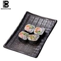 8inch Vintage Ceramic Rectangle Dinner Plate Japan Cuisine Sushi Plates Cake Dessert Fruit Tray Porcelain Tableware Snack Dishes