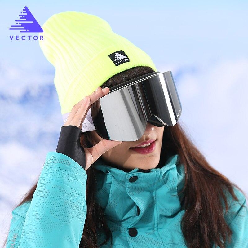Лыжный спорт и Сноубординг Для мужчин Для женщин незапотевающий UV400 двойные линзы ветровка Альпинизм очки, очки