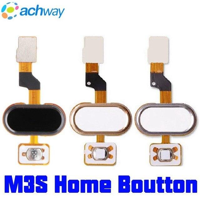 Meizu M3S mini Home Button MEIZU M3S Vingerafdruk Flex Kabel Lint Vervangende Onderdelen Zwart/Wit/Goud MEIZU M3S mini Button
