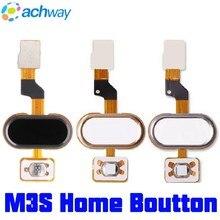 Meizu M3S mini Home ปุ่ม MEIZU M3S ลายนิ้วมือ Flex Cable Ribbon อะไหล่เปลี่ยนสีดำ/สีขาว/ทอง MEIZU M3S mini ปุ่ม