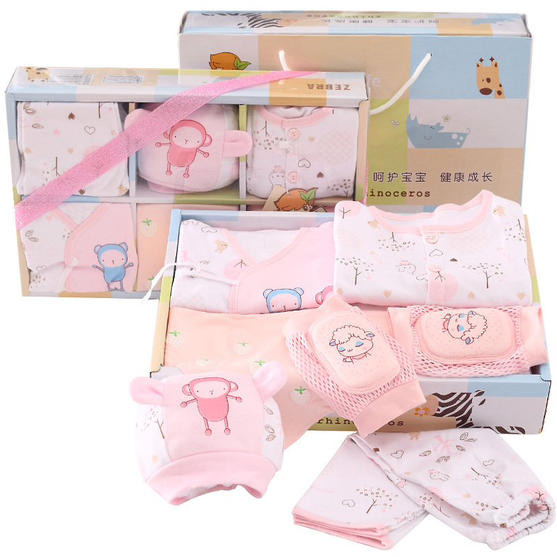 7 Pcs Newborn Baby Clothes Set All Season Baby Clothes Gift Pack ...