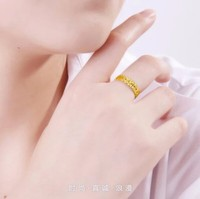 999 Solid 24K Yellow Gold Ring Women's Band Ring