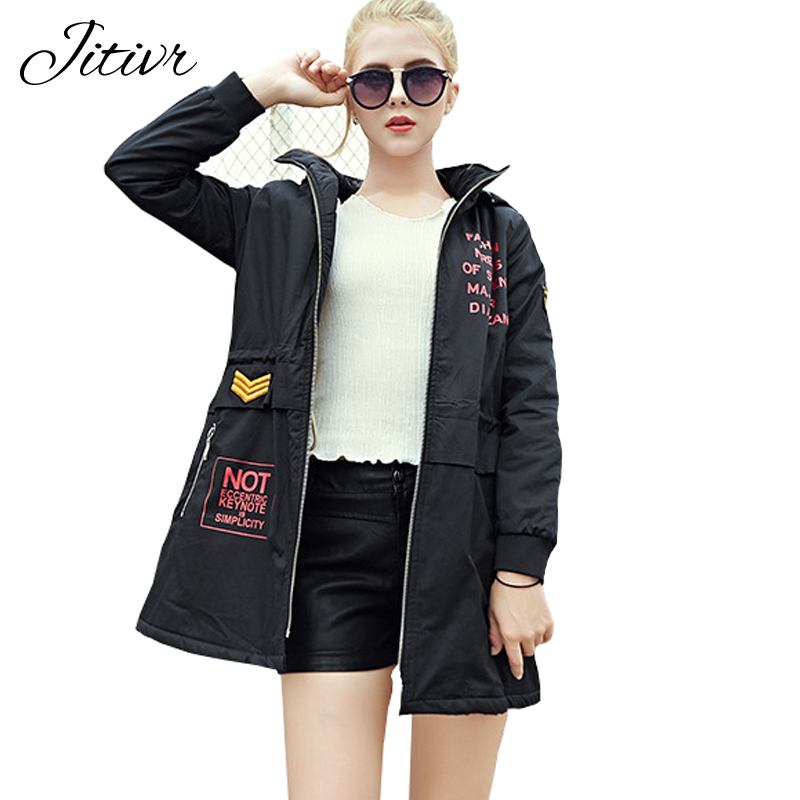 2017 New Women's Coats Solid Fashion Warm Cotton Winter Jacket Plus Size Slim Hooded Parkas For Female High Quality Outwear new parkas jacket 2017 women autumn winter short coats solid hooded cotton padded warm pockets female jacket plus size coats