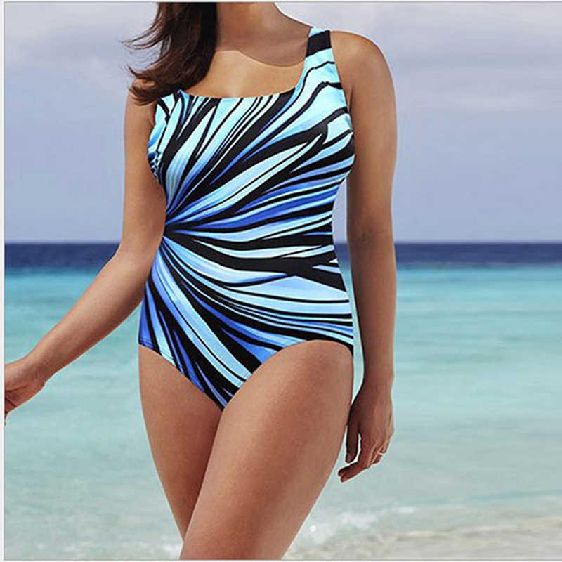 Nouveau grande taille 5XL femmes coloré maillots de bain maillot de bain une pièce femmes Sexy dos nu maillot de bain femmes vêtements de plage d'été
