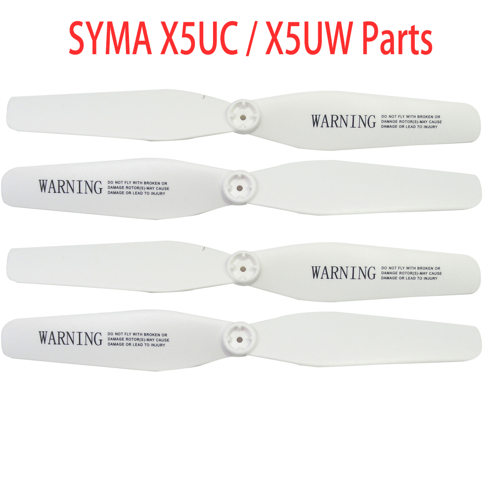 4 PCS Propellers For Syma X5UC X5UW Rc Helicopter Screws Rc Quadcopter Blade Parts Drones Spare Parts4 PCS Propellers For Syma X5UC X5UW Rc Helicopter Screws Rc Quadcopter Blade Parts Drones Spare Parts