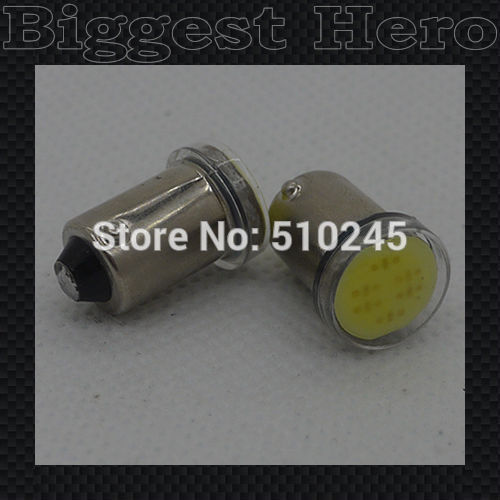 500X wholesale high quality BA9S LED Width Lamp 6 chips COB 12V car wedge light bulb car signal lighting lamp Free shipping