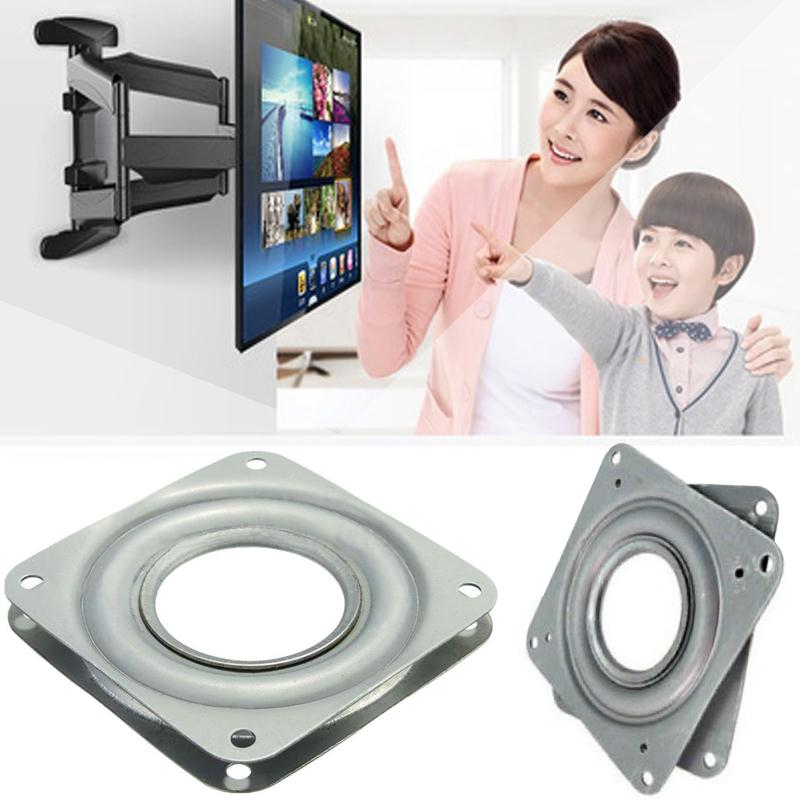 Cewaal Metal Bearing 360 Degrees Rotating Swivel Turntable Plate TV Rack Holder 6 Professional Home Decoration TV Mounts Gift ...