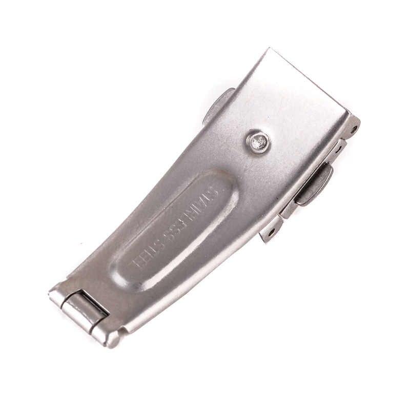 12mm/14mm/16mm/18mm/20mm/22mm hebilla de mariposa de doble clic automático botón de presión pliegue de la hebilla de la correa de cierre de despliegue