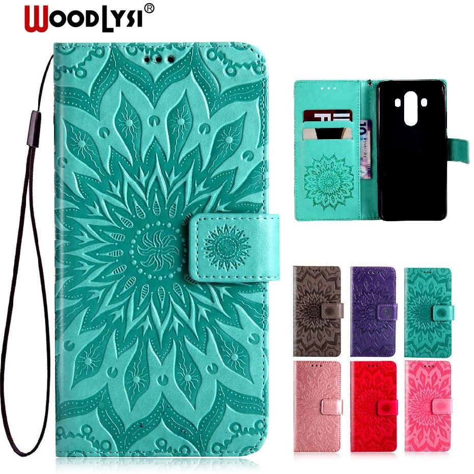 WOODLYSI for Huawei Mate 10 Pro Case Luxury Flip Leather Case For Huawei mate 10 pro Wallet Book Cover Flip Case