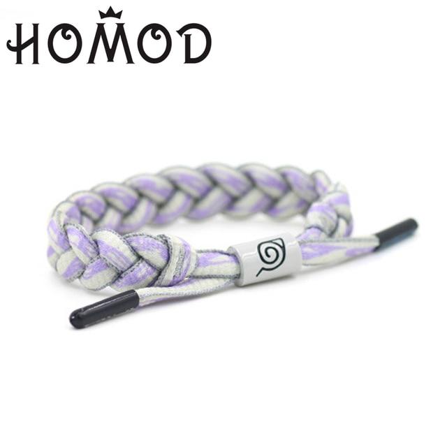 Naruto's Konoha symbol bracelet