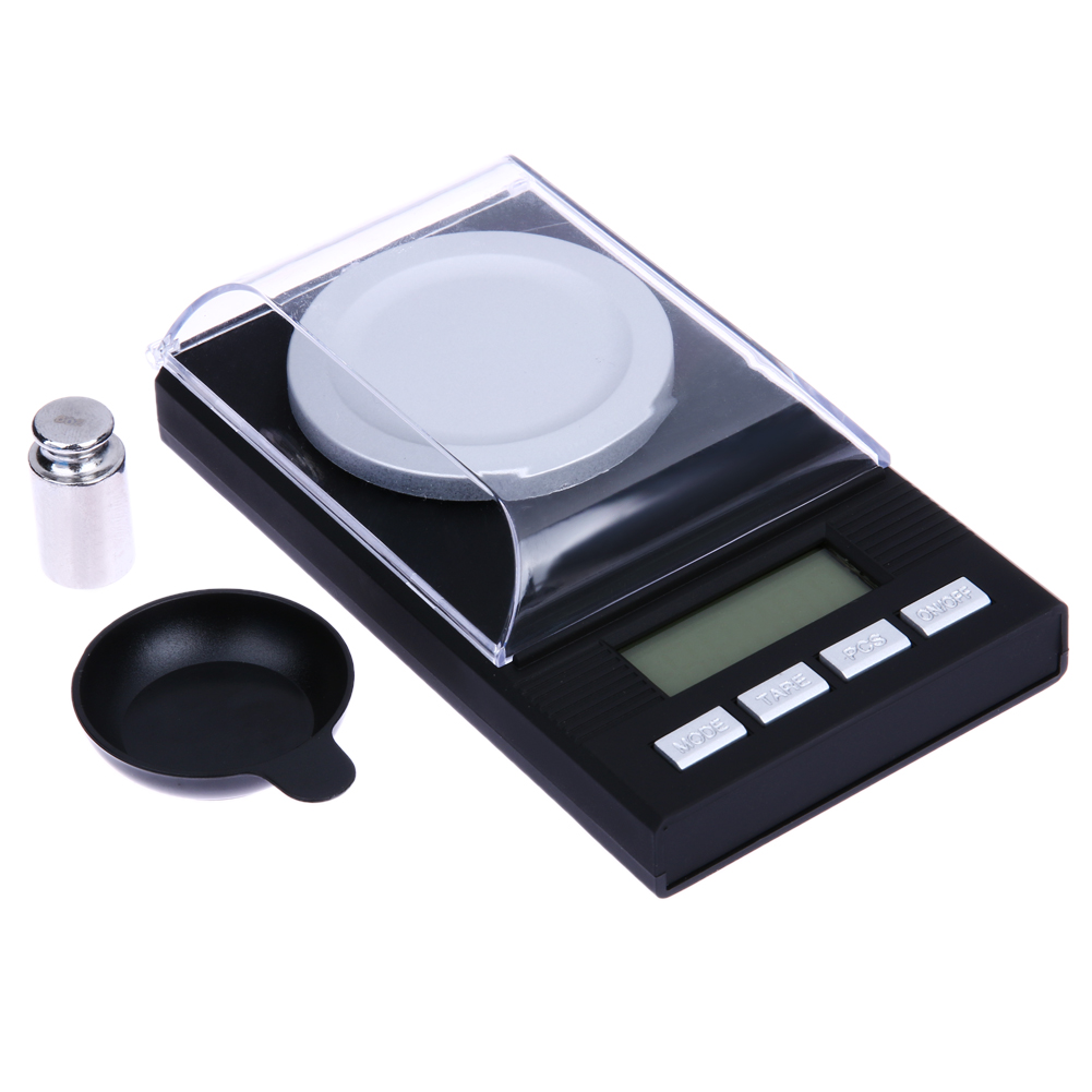 Portable Mini 20g x 0.001g Digital Scale LCD Electronic Capacity Balance for Diamond Jewelry High Precision Pocket Scales 500g 0 5g lab balance pallet balance plate rack scales mechanical scales students scales for pharmaceuticals with weights