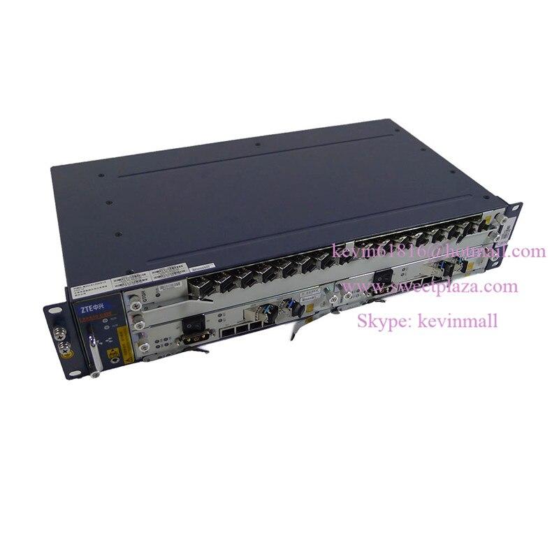 ZTE 19 inch ZXA10 C320 EPON or GPON OLT high integration equipment wtih 10GE uplink board