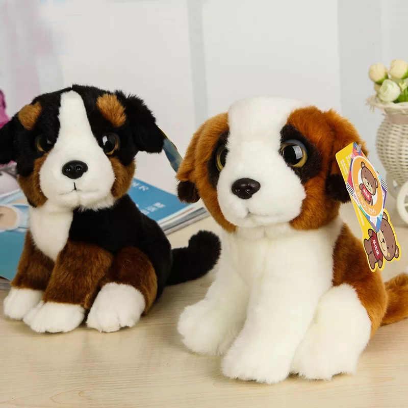 18 CM כמו בחיים עיניים גדולות כלב בפלאש צעצועי סנט ברנרד צ 'יוואווה האסקי גולדן רטריבר קטיפה בובת כלבלב חמוד ממולא צעצועים עבור ילדים
