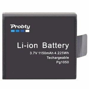 Image 2 - 4 個 PG1050 SJ4000 PG900 バッテリー + usb 液晶デュアル充電器 sjcam SJ5000 SJ6000 SJ8000 M10 eken 4 18k h8 H9 GIT LB101 git バッテリー