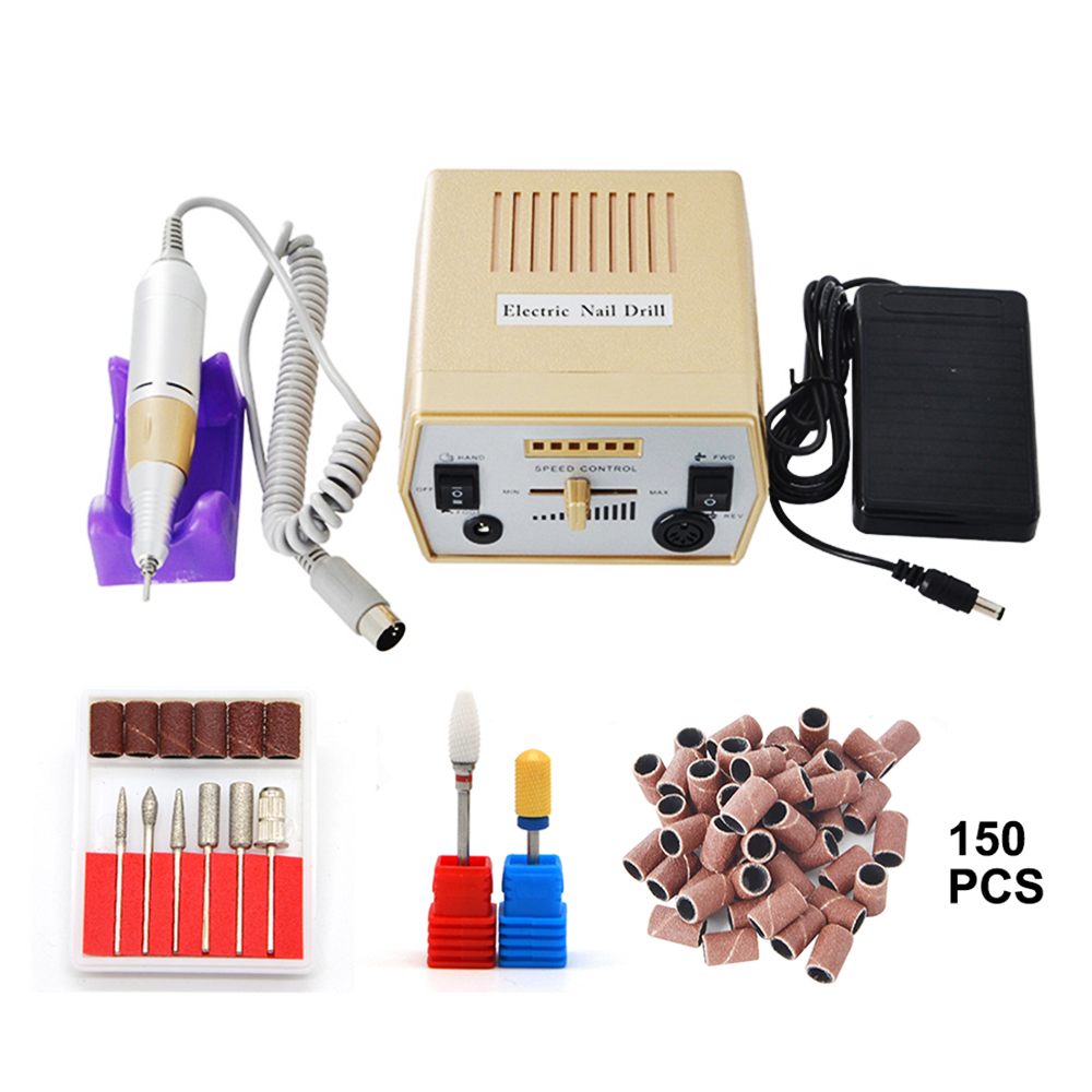 Gold Electric Nail Art Drill Machine Professional Manicure Machine Nail Art Equipment for hardware pedicure and