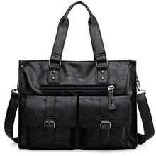 Business Männer Schulter Taschen Große Kapazität Schwarz Laptop Handtasche PU Leder Hohe Qualität sac homme Mann Aktentasche Arbeit Tasche XA245ZC