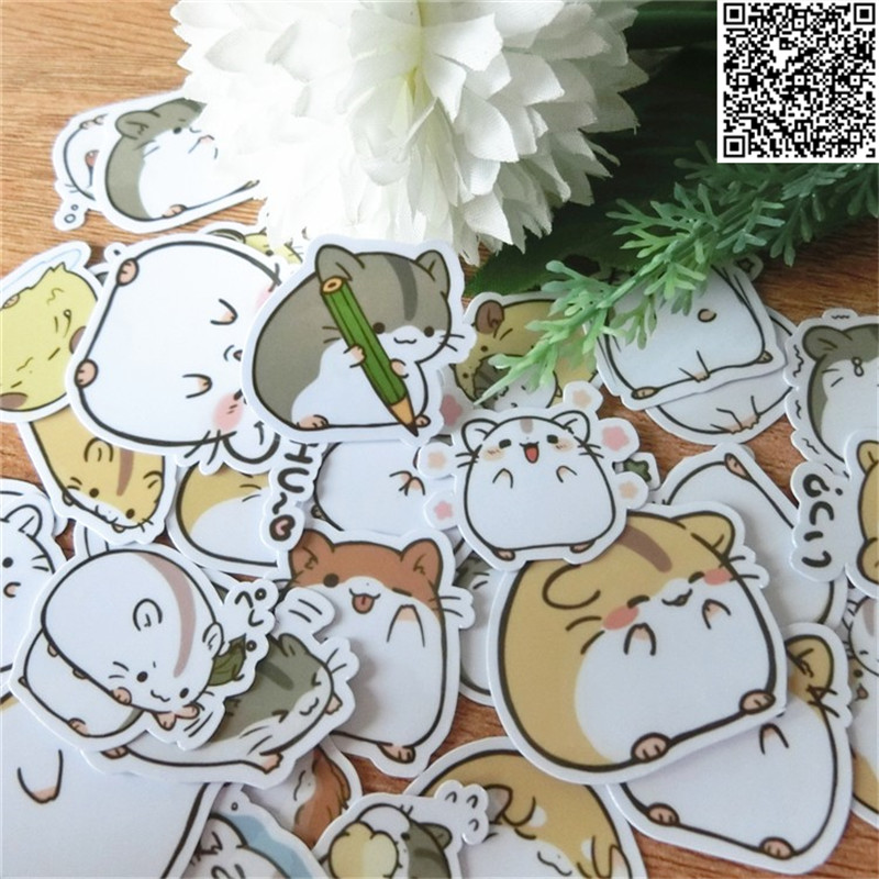 39 Pcs Mini hamsters sell paper Sticker For Luggage Skateboard Phone Laptop Moto Bicycle/Eason Stickers/DIY Scrapbooking