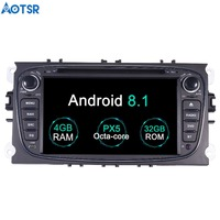 Aotsr Android 8.1 GPS navigation Car DVD Player For Ford Focus 2005 2007 multimedia 2 din radio recorder 4GB+32GB 2GB+16GB