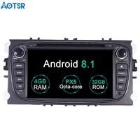 Aotsr Android 8,1 gps навигация dvd плеер автомобиля для Ford Focus 2007 2005 мультимедиа 2 din радио рекордер 4 Гб + 32 Гб 2 Гб + 16 Гб