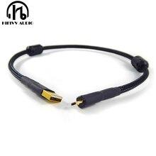 Usb OTG linea hifi USB cavo Doppio anello magnetico Oro placcato amplificatore DAC cavo USB A A micro USB
