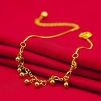 Bells Anklet Chain Classic Style Yellow Gold Filled Lovely Womens Beach Foot Chain Sexy Accessories