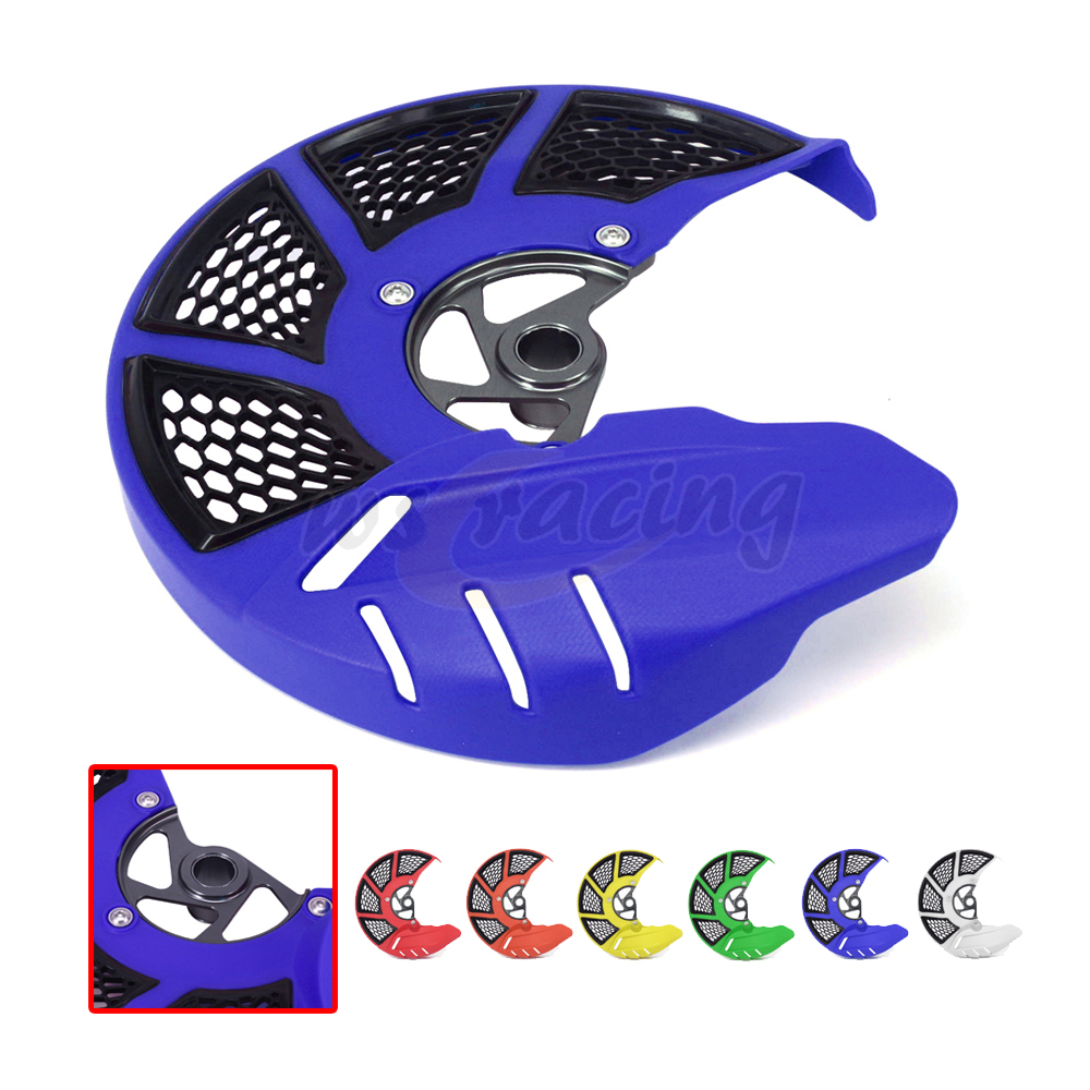 Motorcycle Front Brake Disc Rotor Guard Cover Protector For YAMAHA YZ250F YZ450F 2014 2015 2016 2017 YZ250FX 15-17 YZ450FX 16 17 high quality 270mm oversize front mx brake disc rotor for yamaha yz125 yz250 yz250f yz450f motorbike front mx brake disc