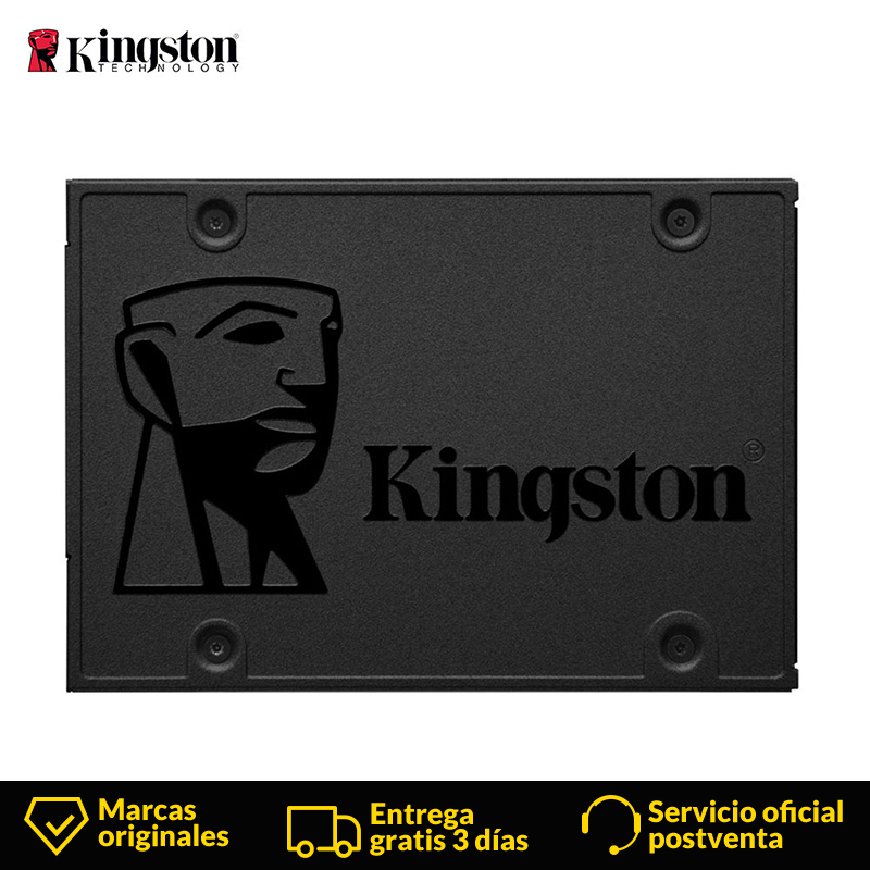 <font><b>Kingston</b></font> Technology Digital A400 <font><b>SSD</b></font> <font><b>120</b></font> <font><b>GB</b></font> 2.5 Serial ATA III Internal 500 MB/s 6 Gbit/s for PC/ordenador portatil/Notebook image