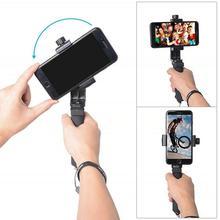Công thái học Smartphone Ổn Định Gậy Chụp Hình Selfie Stick Cầm Tay Di Động Điện Thoại Kẹp Gắn cho Samsung Xiaomi Huawei OnePlus