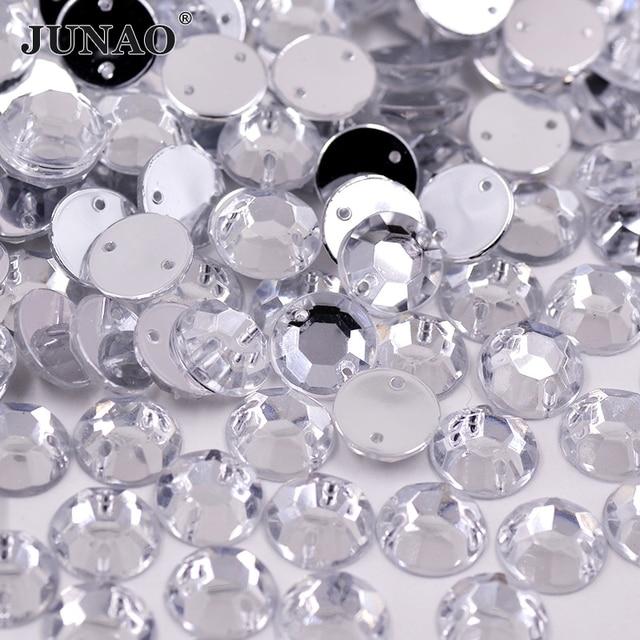 1000 pcs À Coudre 4mm Cristaux Clairs Strass Coudre Sur Acrylique Flatback Rond Strass Pierres pour les Vêtements de Bijoux Artisanat