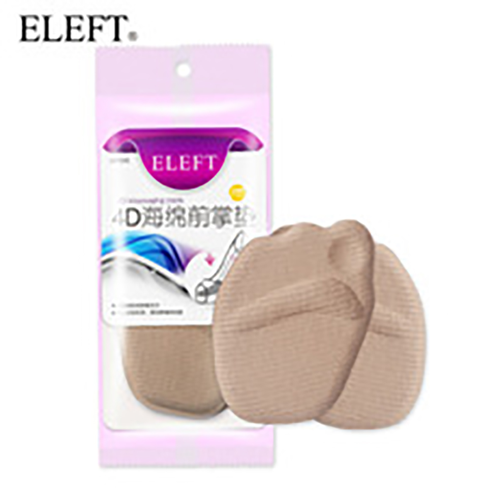 ELEFT 4D Sponge forefoot arch support Ball Foot pad pads insoles inserts shoes woman brand socks