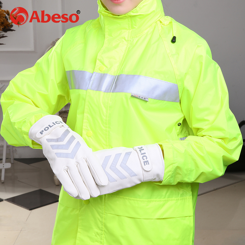 AIBUSISO keep warm Hand Protective Equipment Fire Rescue Flame Retardant Safety Gloves with Reflective Material Tape A1009