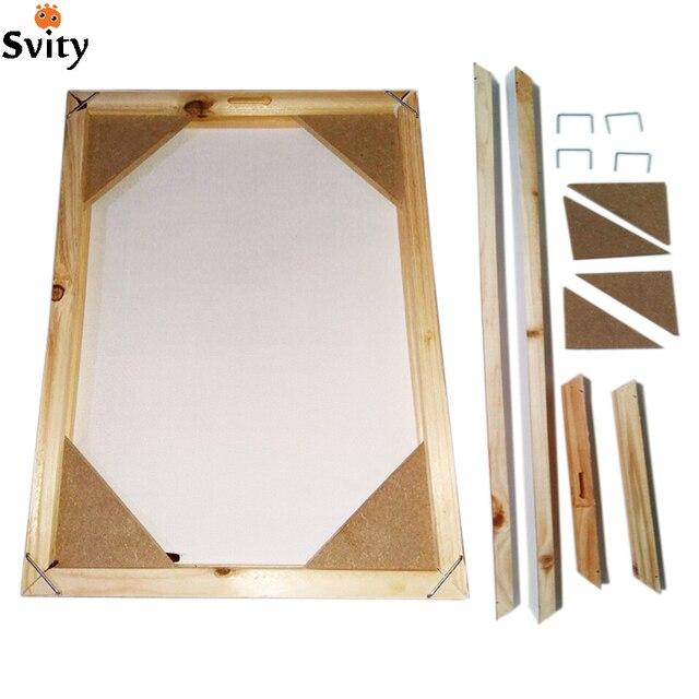 Wood frame for canvas oil painting nature wood DIY custom frame big ...