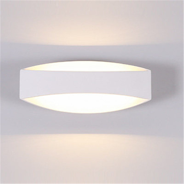 Creative Simple Modern LED Wall Light Fixtures Bedroom Bedside Wall Lamp White Iron Wall Sconce Indoor Lighting Lampara Pared