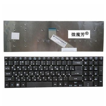Negro RU nueva para ACER V3 7710 7710G 772G E1 530 530G 572, 731, 522, 5830, 5830T 5830TG 5755G V3 571G portátil teclado ruso|laptop keyboard|acer rurussian laptop keyboard -