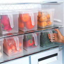 Kitchen Transparent Plastic Storage Box Grains Beans Contain Sealed Food Container Refrigerator Bin