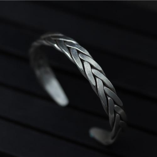 925 Bracelets en argent manouche bohème rétro Bracelets déformés pour les femmes Vintage classique bijoux Bracelets livraison gratuite