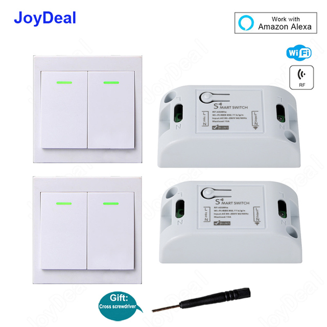 US $4 95 34% OFF 433Mhz RF 10A IOS Android 2200W AC 220V Smart Home WIFI  Wireless Switch Module 86 Wall Panel Wireless Remote Control Transmitter-in