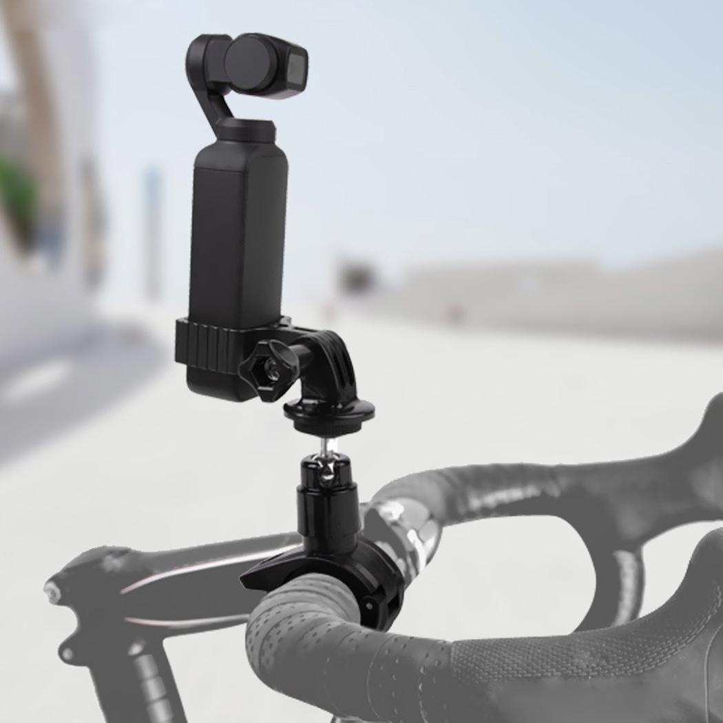 Aluminum Alloy Adapter Bicycle Mount Clip for Black Metal Clamp Casual Gopro DJI OSMO Pocket solid-state drive